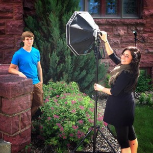 Behind the Scenes Off Camera Flash Senior Portraits